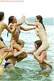 6 naked teens at the beach