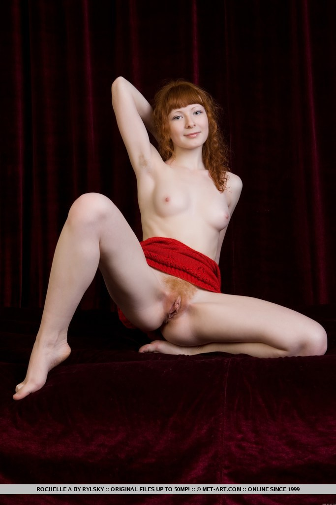 Natural redhead bush hairy