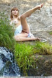 Veda stripping by a river