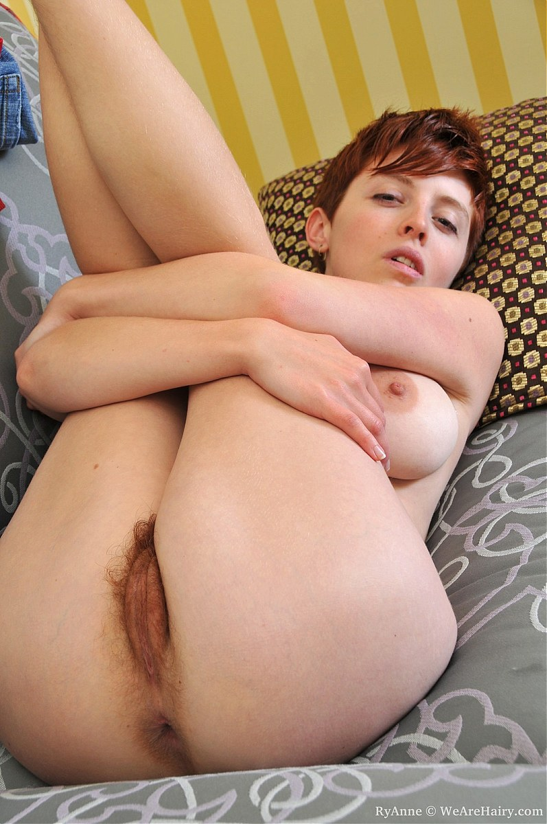 all natural hairy redhead